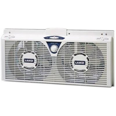 8` Electrically Reversible Twin Window Fan - 2138