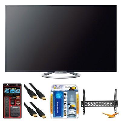 KDL-55W802A 55` W802 Series LED 3D Internet HDTV Wall Mount Bundle