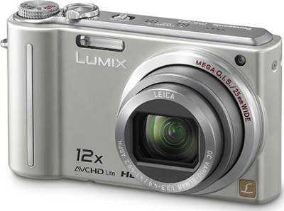 DMC-ZS3S LUMIX 10.1 MP Compact D. Camera with 12x Super Zoom (Silver)**OPEN BOX*
