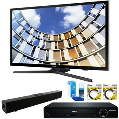 Flat 50` 1080p LED SmartTV 2017 + HDMI DVD Player & Sound Bar Bundle