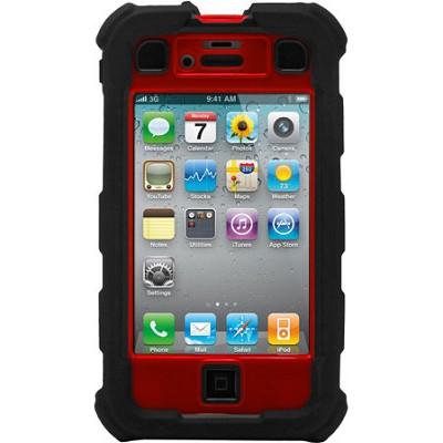 iPhone 4/4S Ballistic Hard Core (HC) Series Case - Black/Red