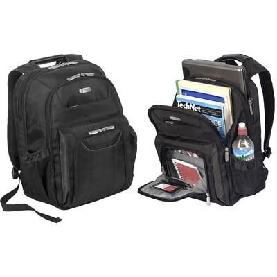 Zip Thru Air Traveler Backpack for 16` Laptop in Black - TBB012US