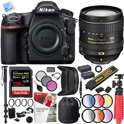 D850 45.7MP Full-Frame FX-Format DSLR Camera NIKKOR 16-80mm f/2.8-4E VR Lens Kit