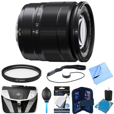 Fujinon XC 16-50mm (27-76mm) F3.5-5.6 OIS Black X-Mount Lens Bundle