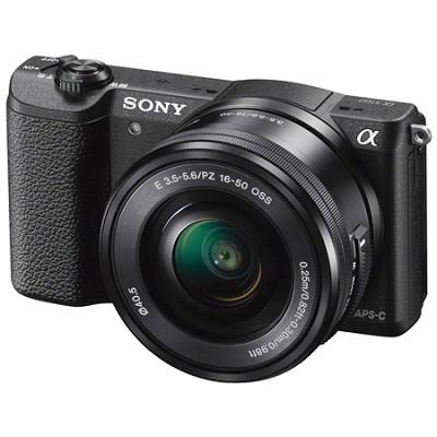 Alpha a5100 24.3MP HD 1080p Mirrorless Digital Camera with 16-50mm Lens - Black
