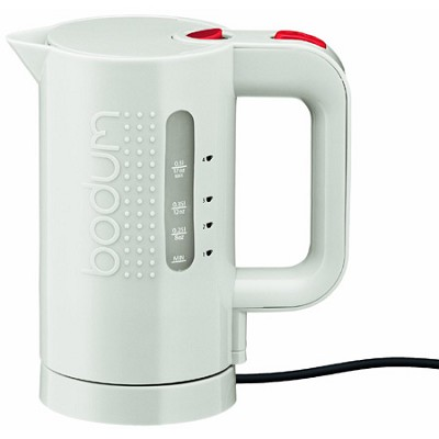 17-Ounce Electric Water Kettle, White - OPEN BOX