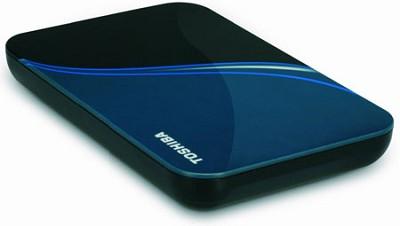 NEW 500 GB USB 2.0 Portable External Hard Drive in Liquid Blue - HDDR500E04XL