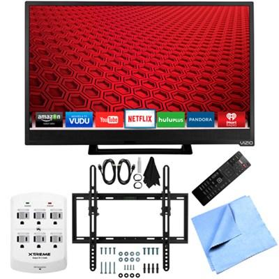 E28h-C1 - 28-Inch 60Hz 720p Smart HDTV Flat & Tilt Wall Mount Bundle
