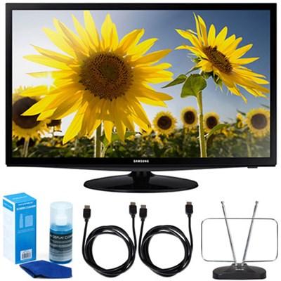 UN28H4000 28` LED HD 720p TV Motion Rate 120 (2014 Model) w/ Accessory Bundle