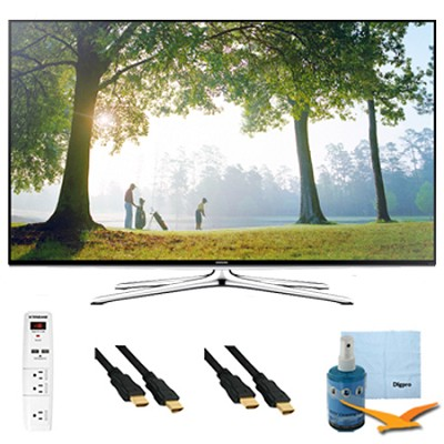 40` Full HD 1080p Smart HDTV 120HZ with Wi-Fi Plus Hook-Up Bundle - UN40H6350