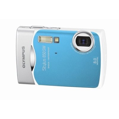 Stylus 850 SW 8MP Shockproof Waterproof Digital Camera ( Cool Blue)