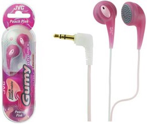 HAF-120P Ultra Soft Earbuds (Peach Pink) fun see-through color