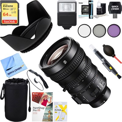 E PZ 18-110mm APS-C / Super 35mm F4 G OSS Power Zoom Lens + 64GB Ultimate Kit