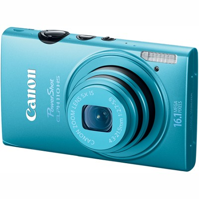 PowerShot ELPH 110 HS 16.1MP CMOS Blue Digital Camera 5x Opt Zoom 1080p HD Video