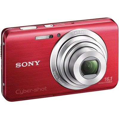 Cyber-shot DSC-W650 Red Compact 3 inch LCD, HD Video - OPEN BOX