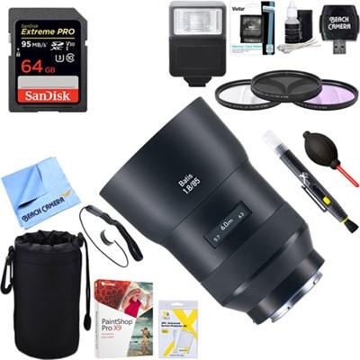 Batis 85mm f/1.8 Lens for Sony E Mount + 64GB Ultimate Kit