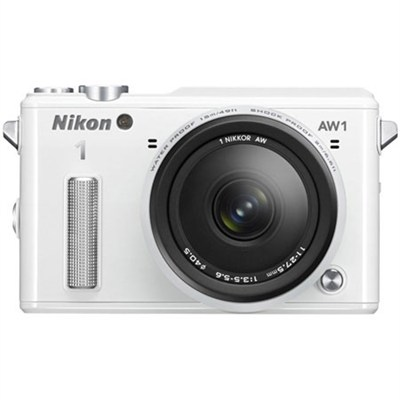 Refurbished 1 AW1 14.2MP Waterproof Mirrorless Camera w/ 11-27.5mm Lens (White)