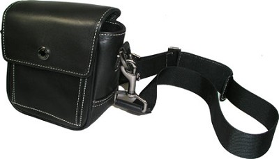 Deluxe Leather Carrying Case - for Cameras/Camcorders & Similar