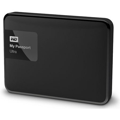 My Passport Ultra 2TB Portable External Hard Drive USB 3.0 Black (WDBBKD0020BBK)