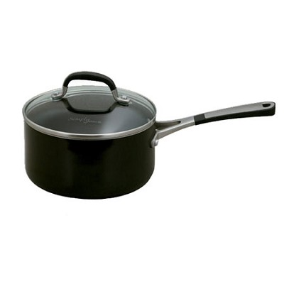 2-qt. Simply Enamel Black Saucepan with Cover - 1756550