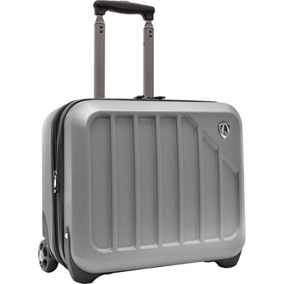 Traveler?s Choice Glacier 16` Hardshell Expandable Rolling Briefcase, Silver