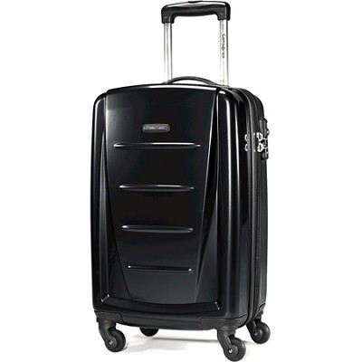 Winfield 2 20` Carry On Hardside Spinner Luggage (Black)