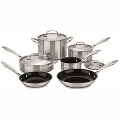 GGT-10 - 10-Piece Green Gourmet Tri-Ply Stainless Set