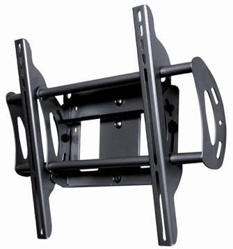 Flat + Tilt Wall Mount for Flat Panel TVs (Black)