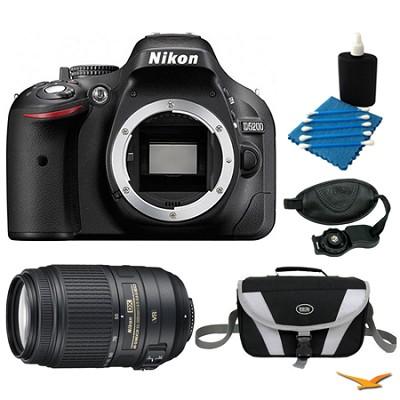 D5200 DX-Format Digital SLR Camera Body with 55-300mm VR Lens Bundle