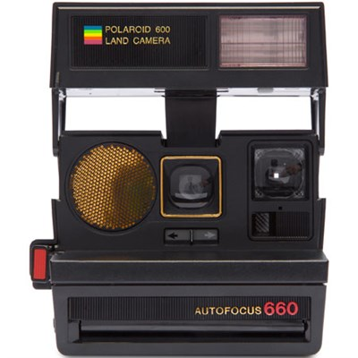 Polaroid 600 Sun 660 AF Camera with Auto Flash & Fixed Focus Lens (Black) - 1376