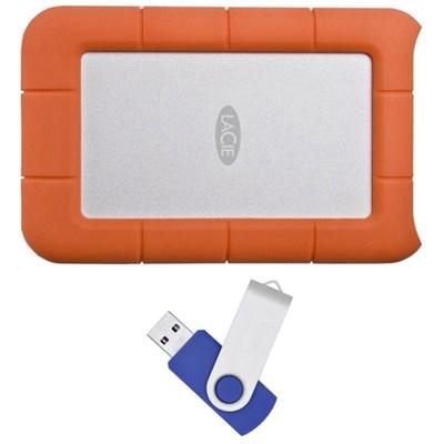 Rugged Mini USB 3.0 7200RPM 500GB External Hard Drive with Flash Transfer Kit