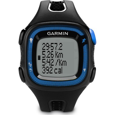 Forerunner 15 Heart Rate Monitor Bundle Large - Black/Blue