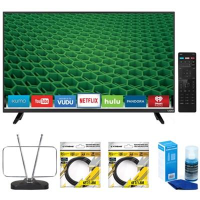 D50-D1 D-Series 50-Inch 120Hz Full Array LED Smart TV w/Accessories Bundle