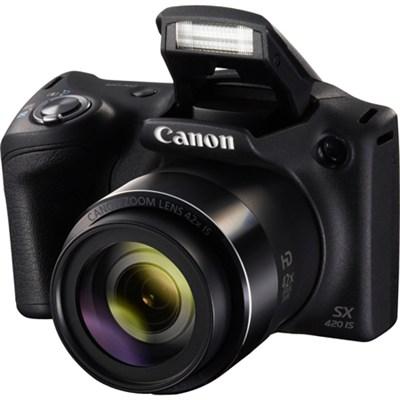 PowerShot SX420 IS 20MP Digital Camera w/ 42x Optical Zoom + Wi-Fi - Black