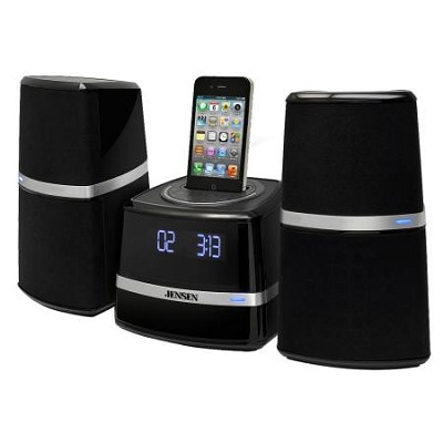 JiMS-252i Docking Station with Speakers for iPod and iPhone