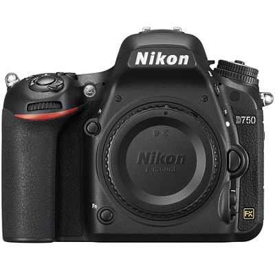 D750 DSLR 24.3MP HD 1080p FX-Format Digital Camera - Body Only