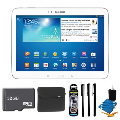 Galaxy Tab 3 (10.1-Inch, White) + 32GB Micro SDHC and More