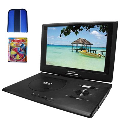 13.3` DVD Player (Swivel) w/ USB/SD Card Reader - Essentials Bundle