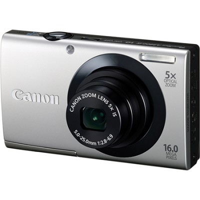 PowerShot A3400 IS 16MP Silver Digital Camera OPEN BOX