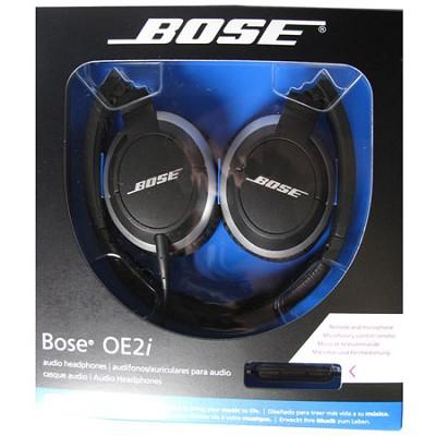 OE2i Black On-Ear Audio Headphones - OPEN BOX