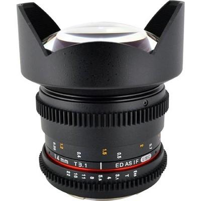 14mm T3.1 Asph Wide Angle Cine Lens, De-clicked Apert- Canon EF Mt - OPEN - BOX