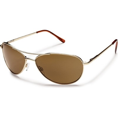 Patrol Sunglasses Gold Frame/Brown Polarized Lens