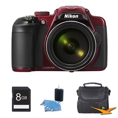 COOLPIX P600 16.1MP Digital Camera Red Kit