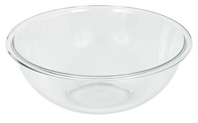 Prepware 4-Quart Rimmed Mixing Bowl, Clear