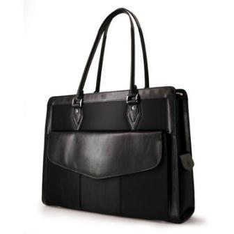 MEGN1L Geneva Handbag Large black computer case for Laptops up to 17`