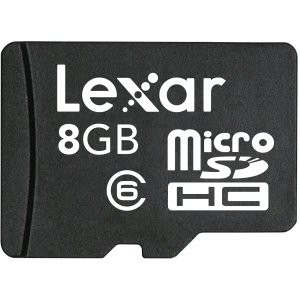 Micro SDHC 8 GB Flash Memory Card LSDMI8GBASBNAC6A