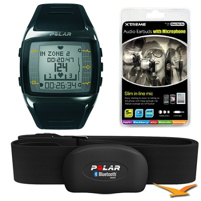 FT60 Heart Rate Monitor - Black/White (90036405) Bundle