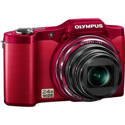 SZ-12 14MP 3.0 LCD 24x Opt Zoom Digital Camera - Red