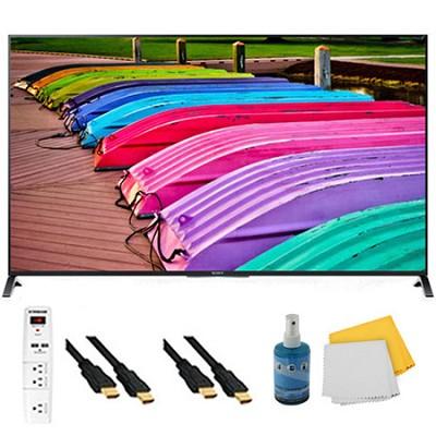 55` 3D 4K UHD TV Motionflow XR 240 Smart TV Plus Hook-Up Bundle - XBR55X850B