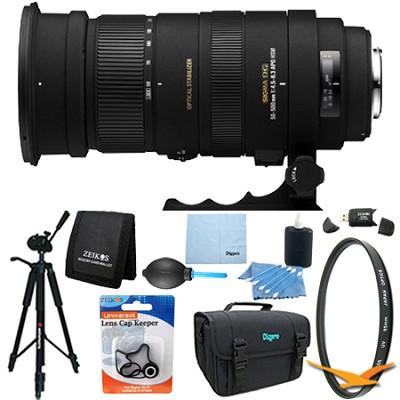 APO 50-500mm F4.5-6.3 DG OS HSM f/ Nikon AF Lens Kit Bundle